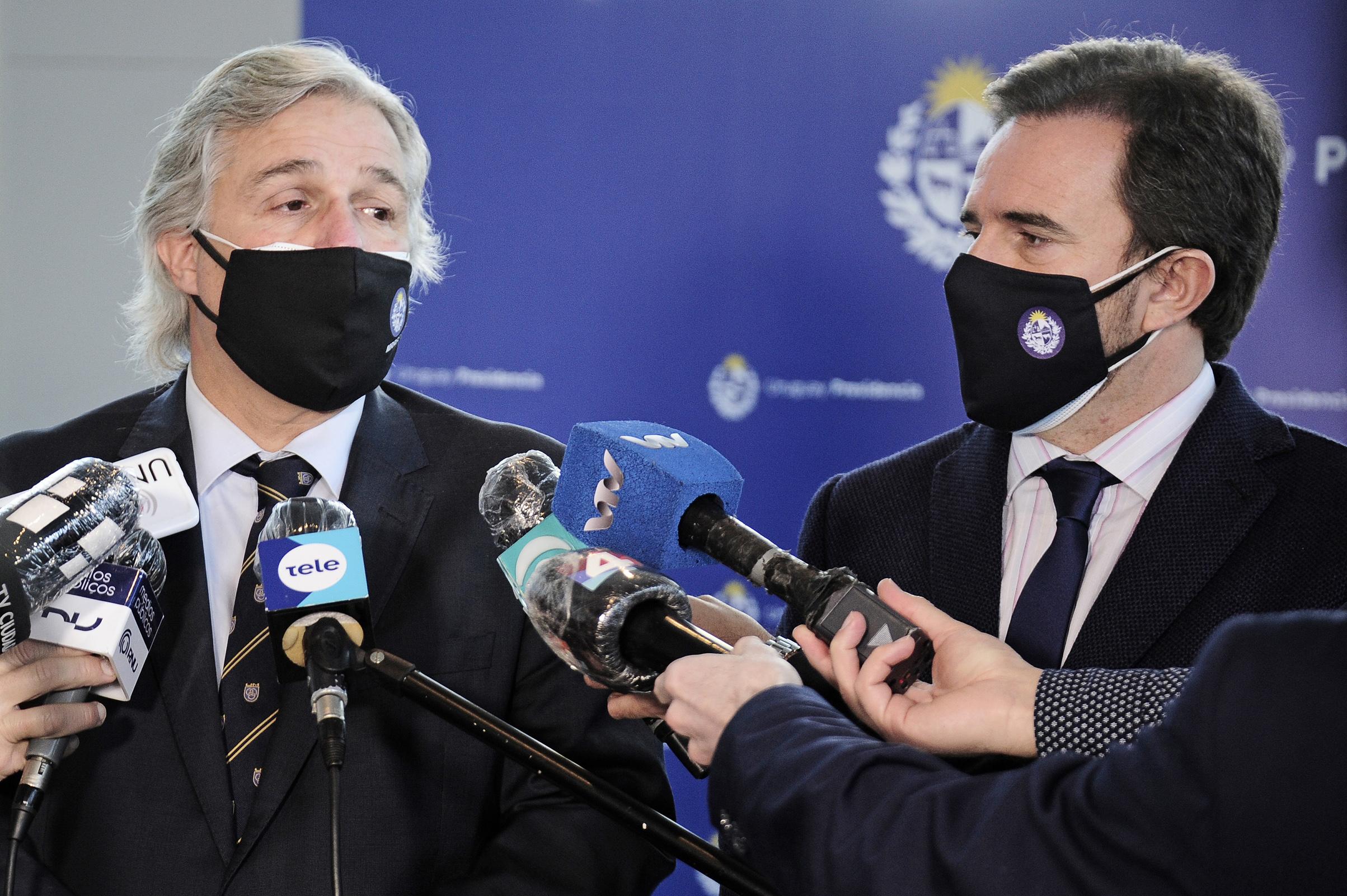 Ministros Francisco Bustillo y Germán Cardoso
