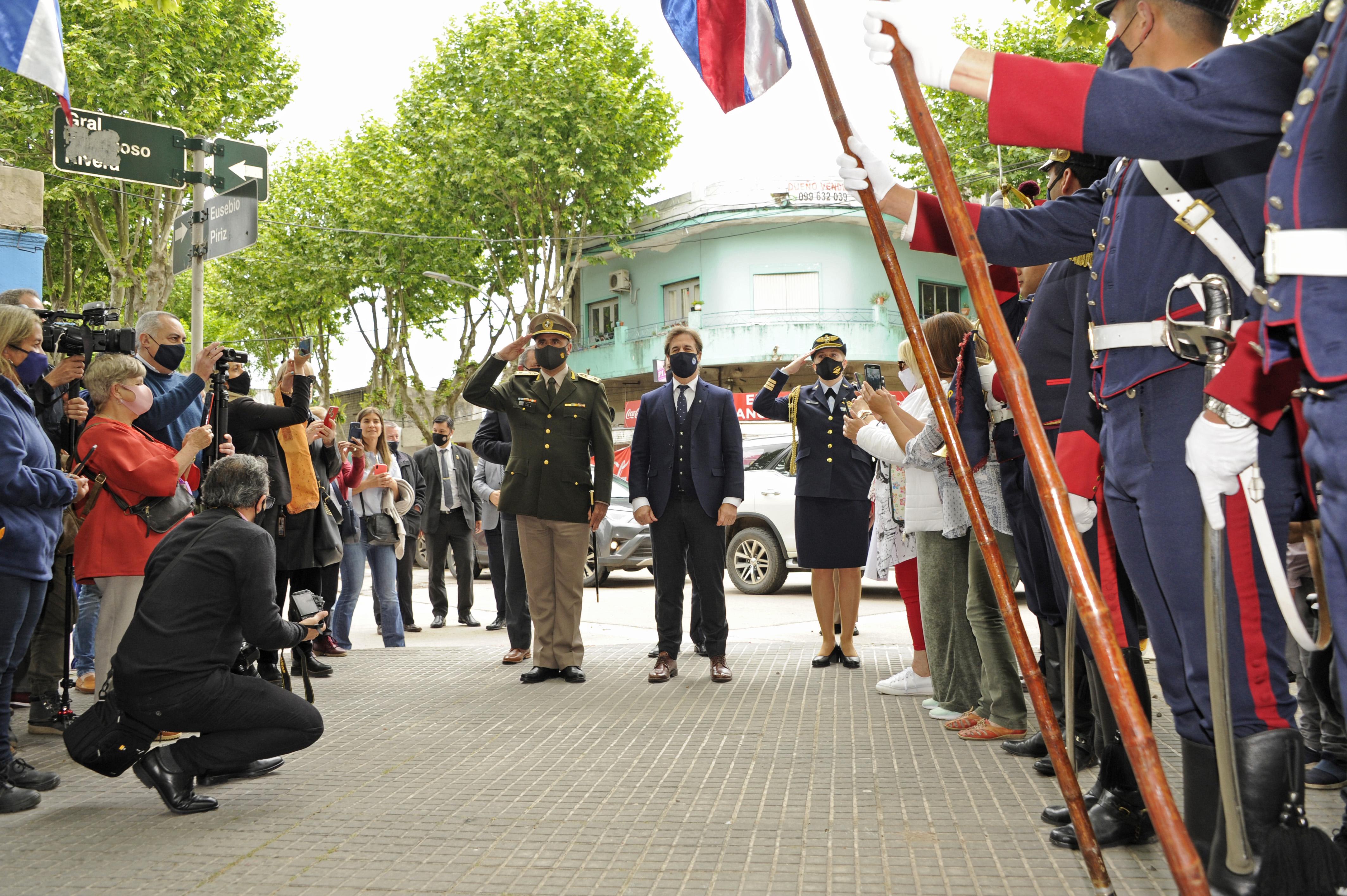 Luis Lacalle Pou, encabezó el acto oficial por el 200.° aniversario de la instauración de la ciudad de Durazno